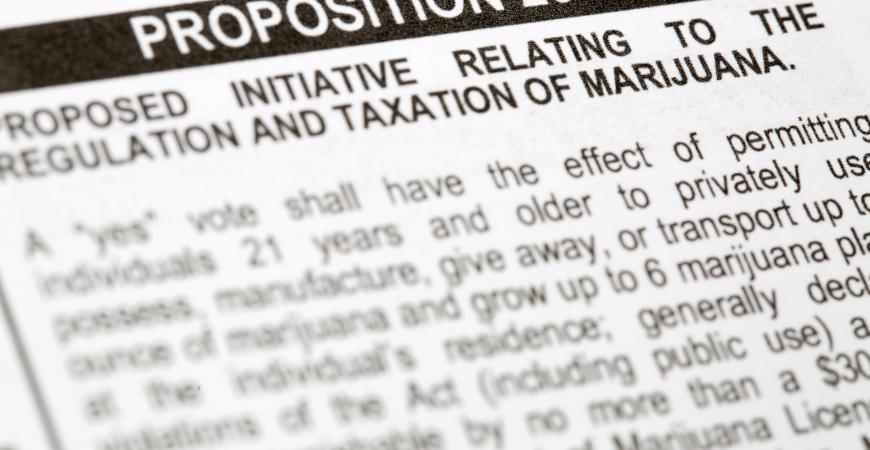 Proposition to Legaliza Marijuana on California Voting Ballot